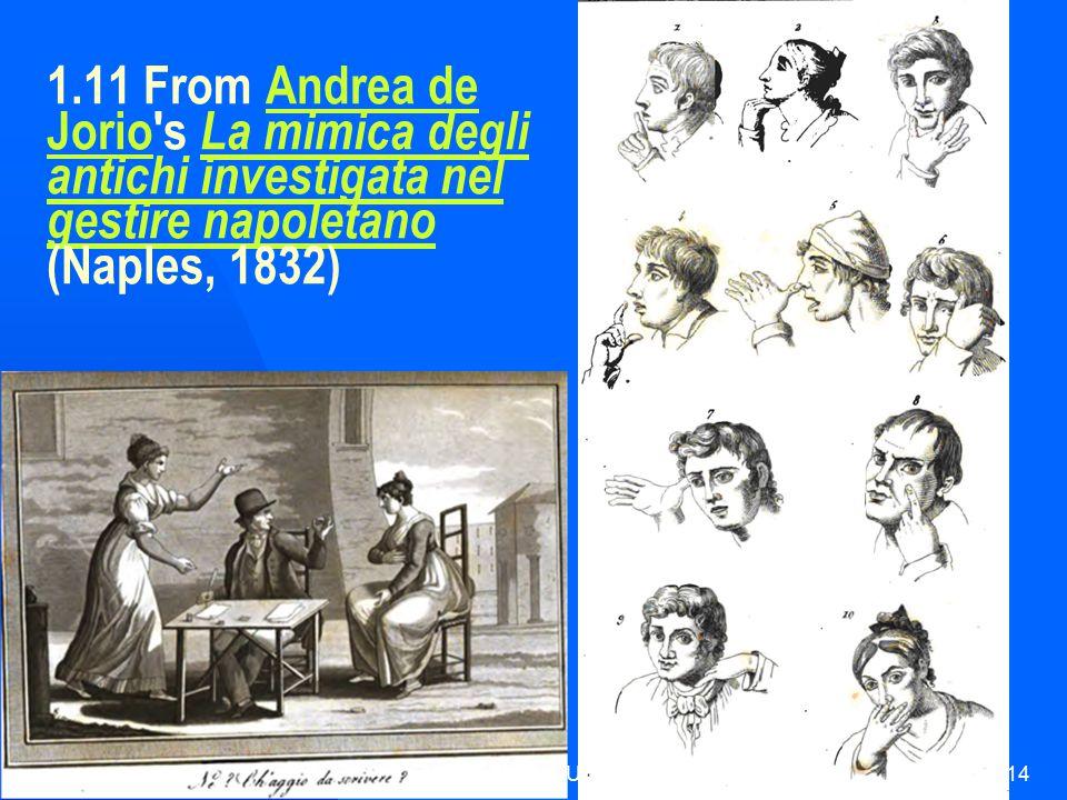HUI21614 1.11 From Andrea de Jorio s La mimica degli antichi investigata nel gestire napoletano (Naples, 1832)Andrea de Jorio La mimica degli antichi investigata nel gestire napoletano