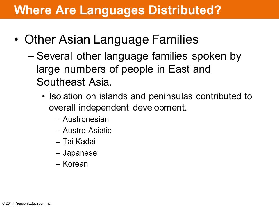 Where Are Languages Distributed.