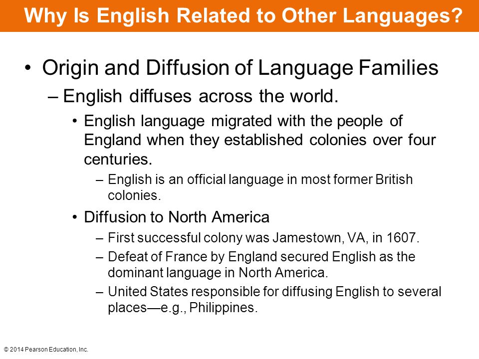 Why Is English Related to Other Languages.