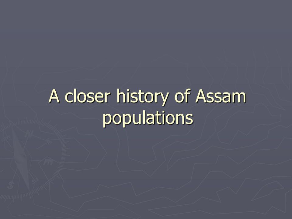 A closer history of Assam populations
