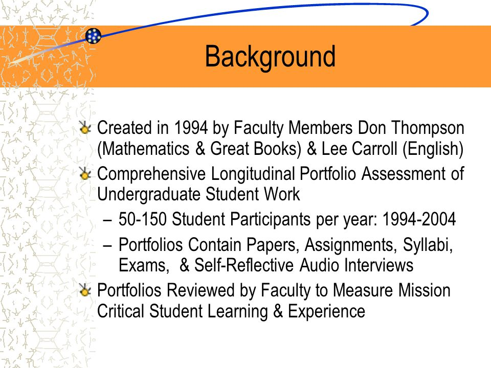 Presentations Shared Learning: CD-ROM Student Portfolio Project, a concurrent session presented at the 11th AAHE Conference on Assessment & Quality, Washington D.C., June 8-12, 1996, Don Thompson.