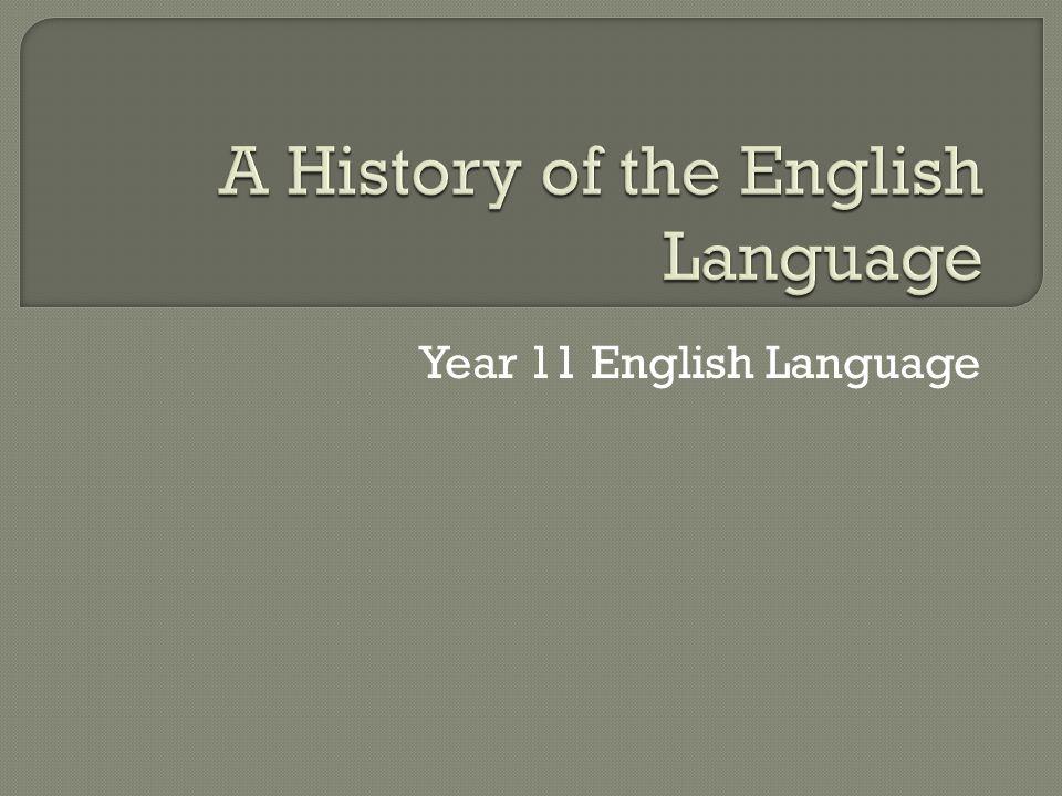 Year 11 English Language