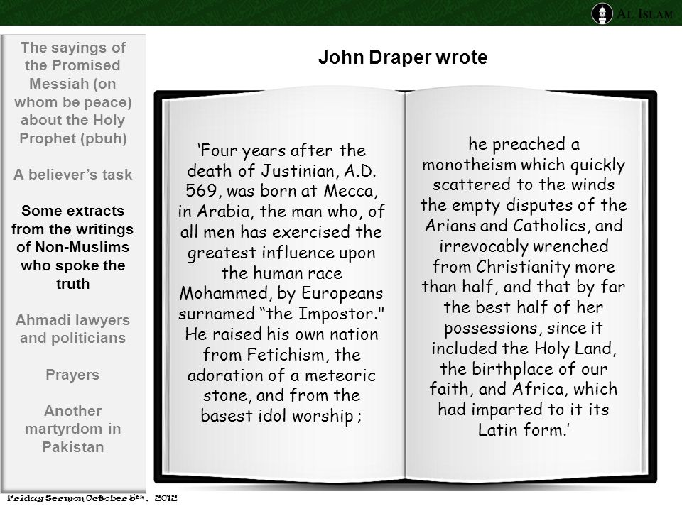 John Draper wrote 'Four years after the death of Justinian, A.D.