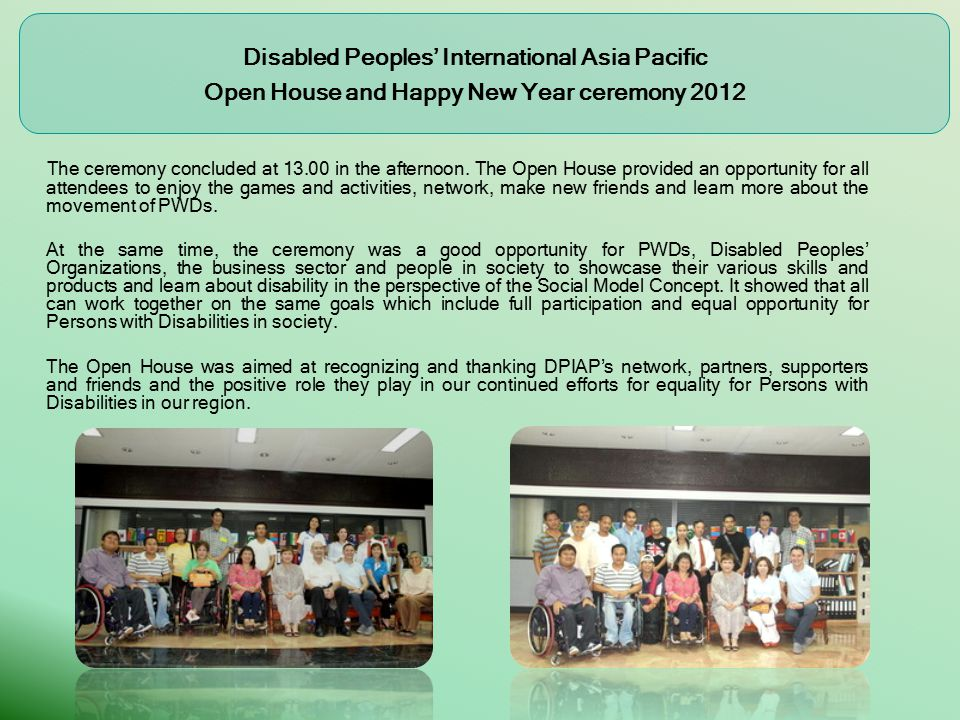 DPIAP Open House Take tour Exhibition Booths on accessibilities Exhibition from Telecommunication services and Devices Showcase for Persons with Disabilities and the Elderly to demonstrate and present the assistive devices.