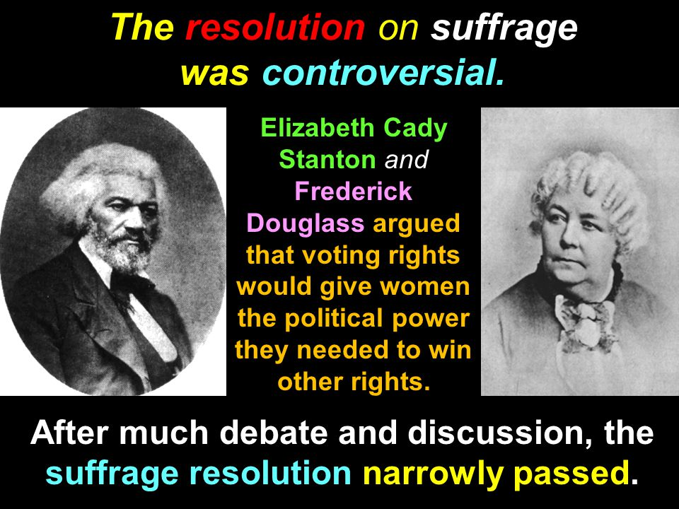 The resolution on suffrage was controversial.