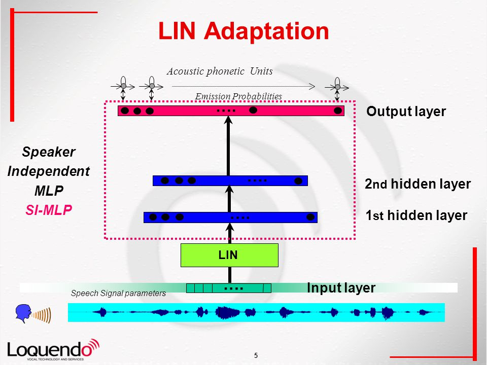 5 LIN Adaptation Output layer ….