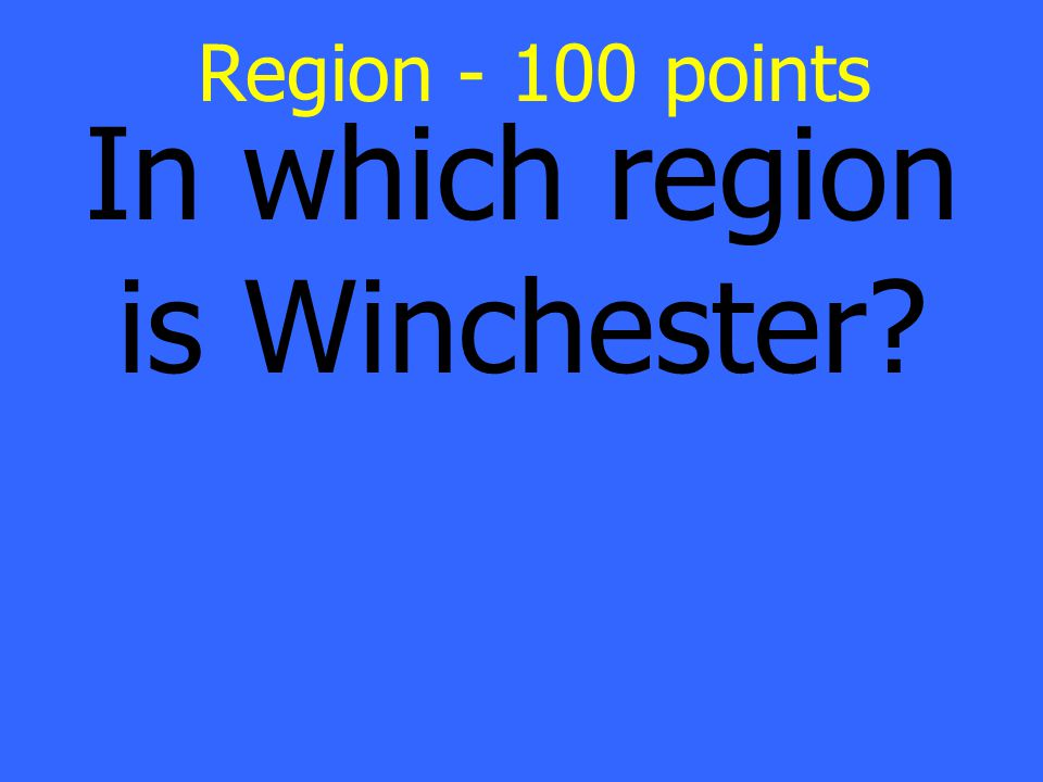 Valley and Ridge Region Answer- 100 points