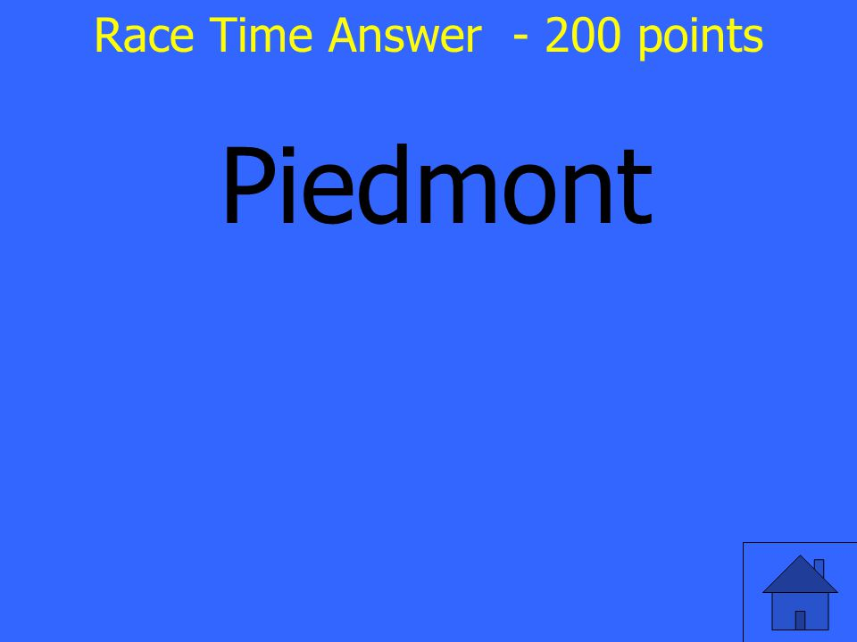 Piedmont Race Time Answer - 200 points