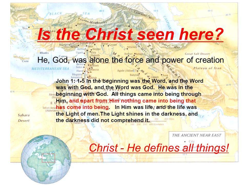 Is the Christ seen here.