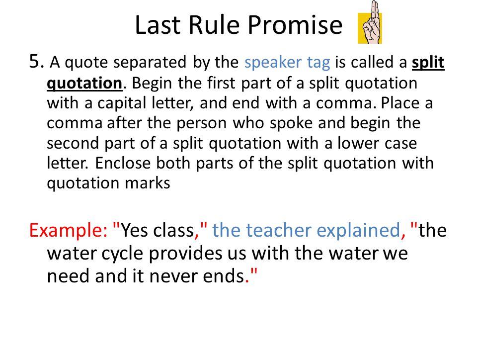 Let's Practice Commas in Quotes