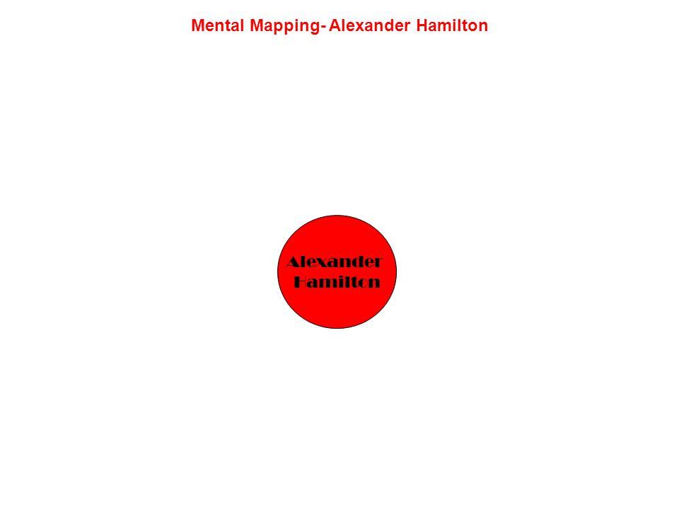 Mental Mapping- Alexander Hamilton Alexander Hamilton