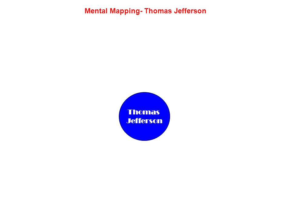 Mental Mapping- Thomas Jefferson Thomas Jefferson