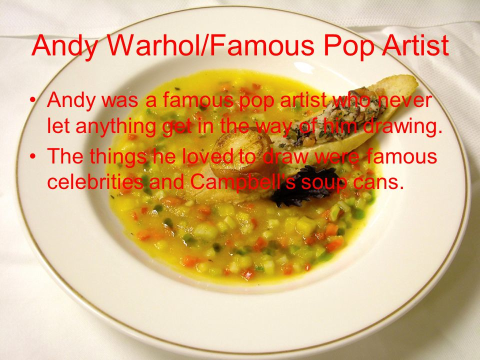 Andy Warhol's Challenges Andy had came down with a terrible fever which caused him a skin disease that for some reason caused his friend's and family to pick on him.