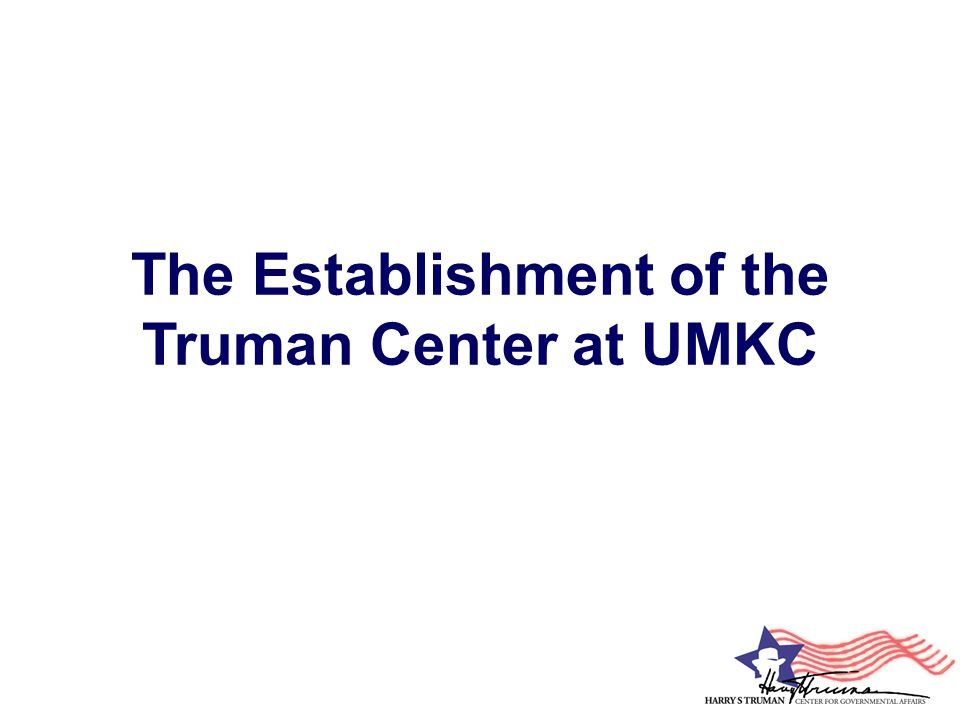 Truman Center Logo Commissioned by the Truman Center, and developed in collaboration by UMKC Graphic Design students Natosha Snidow, Riley Davis, and Samantha Kuns