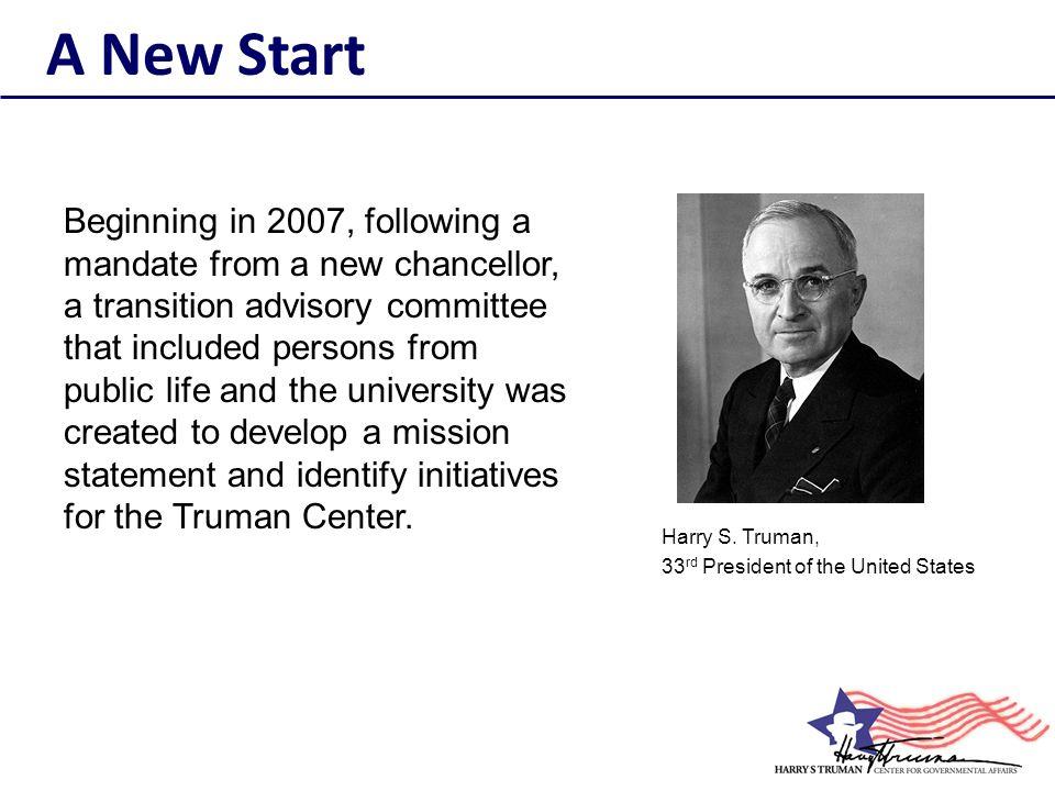 On October 18, 2010, the Truman Center hosted UN Under- Secretary General B.