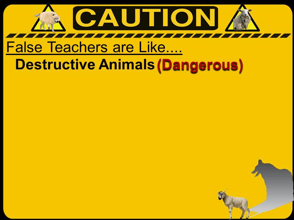 False Teachers are Like.... Destructive Animals (Dangerous)
