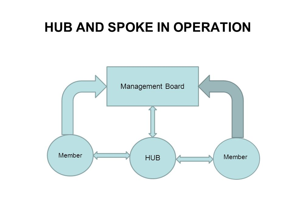 HUB AND SPOKE IN OPERATION Member HUB Management Board Member