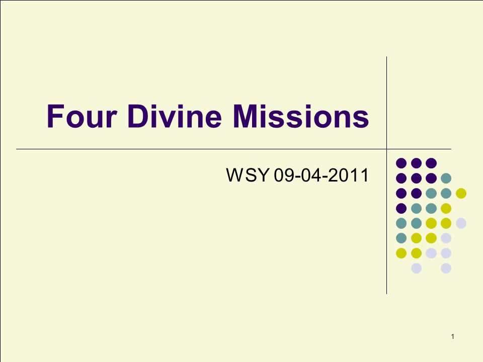 2 What Are Missions.