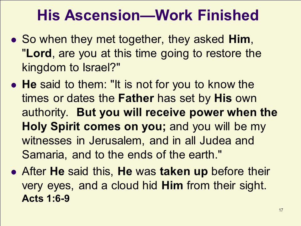 18 After our break: 3. The Mission of the Apostles 4. The Mission of the Holy Spirit