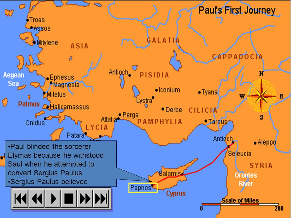 We don't know Paul's exact stops here but can you think of a reason why he would stop in Tarsus?