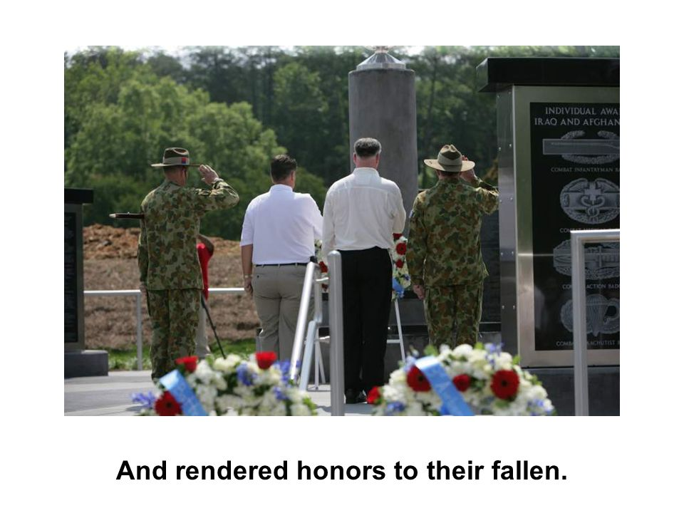 And rendered honors to their fallen.