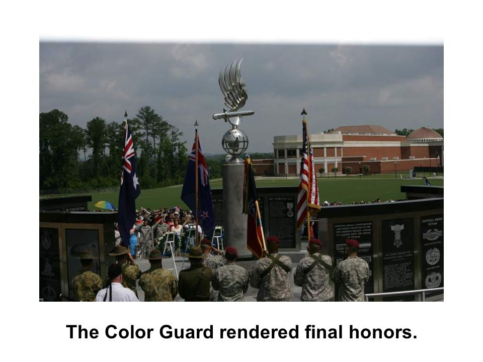 The Color Guard rendered final honors.