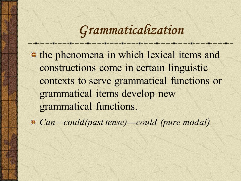 The prepositional phrase (modifier+) preposition +complementation e.g.