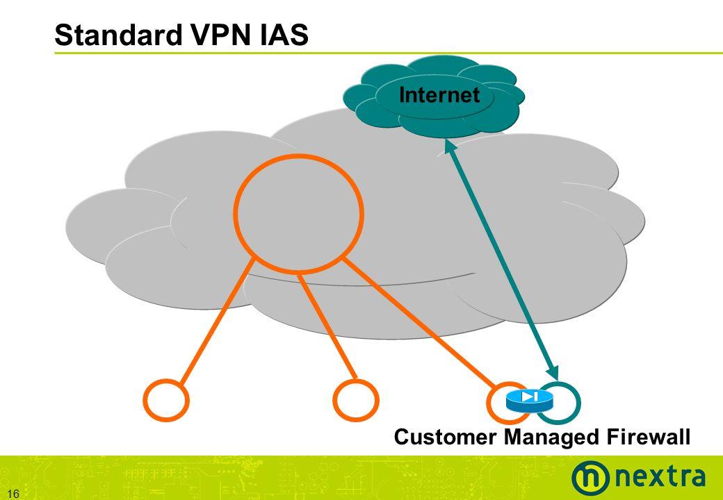 16 Standard VPN IAS Internet Customer Managed Firewall