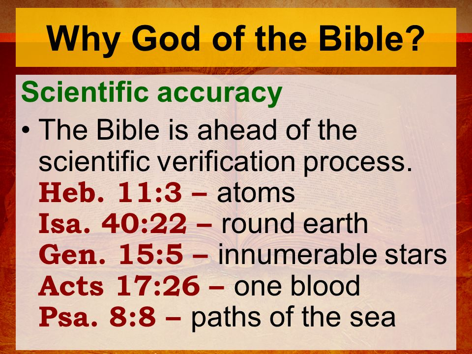 Why God of the Bible.