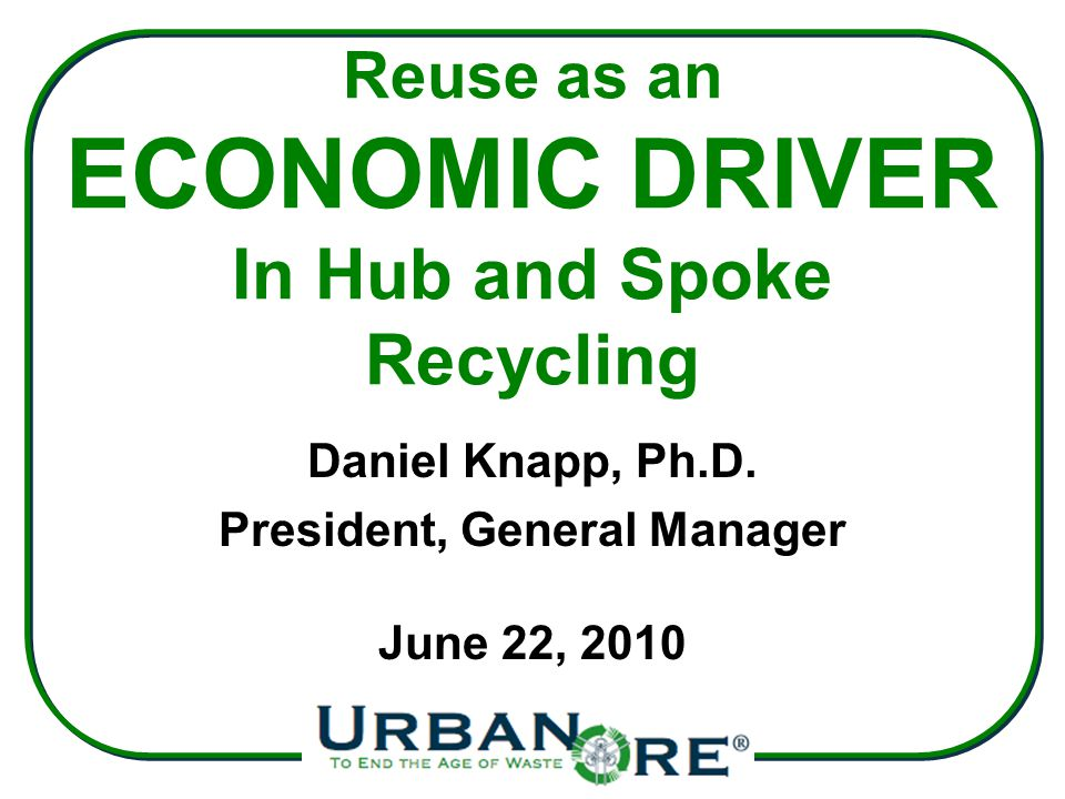 How to Figure Out Reuse Income Potential for Your Community Estimate the total discard supply.
