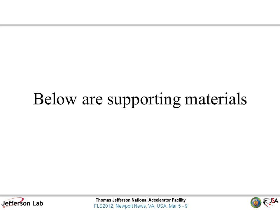 FLS2012, Newport News, VA, USA. Mar 5 - 9 Below are supporting materials