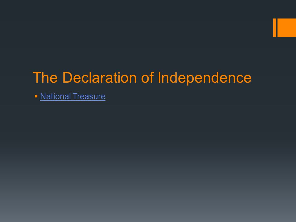 The Declaration of Independence  National Treasure National Treasure