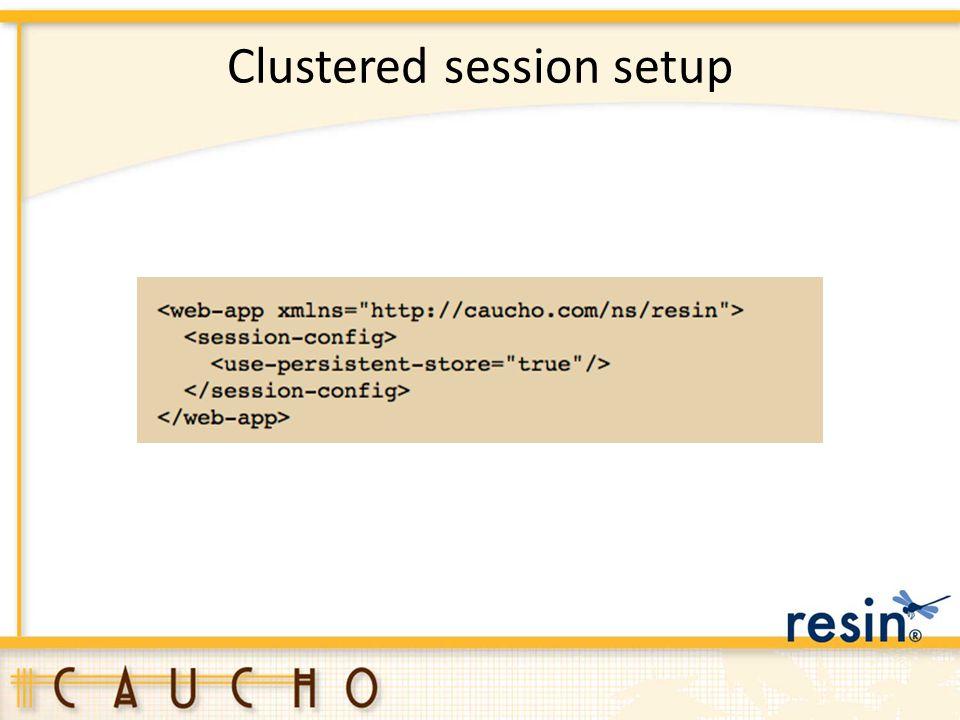 Clustered session setup
