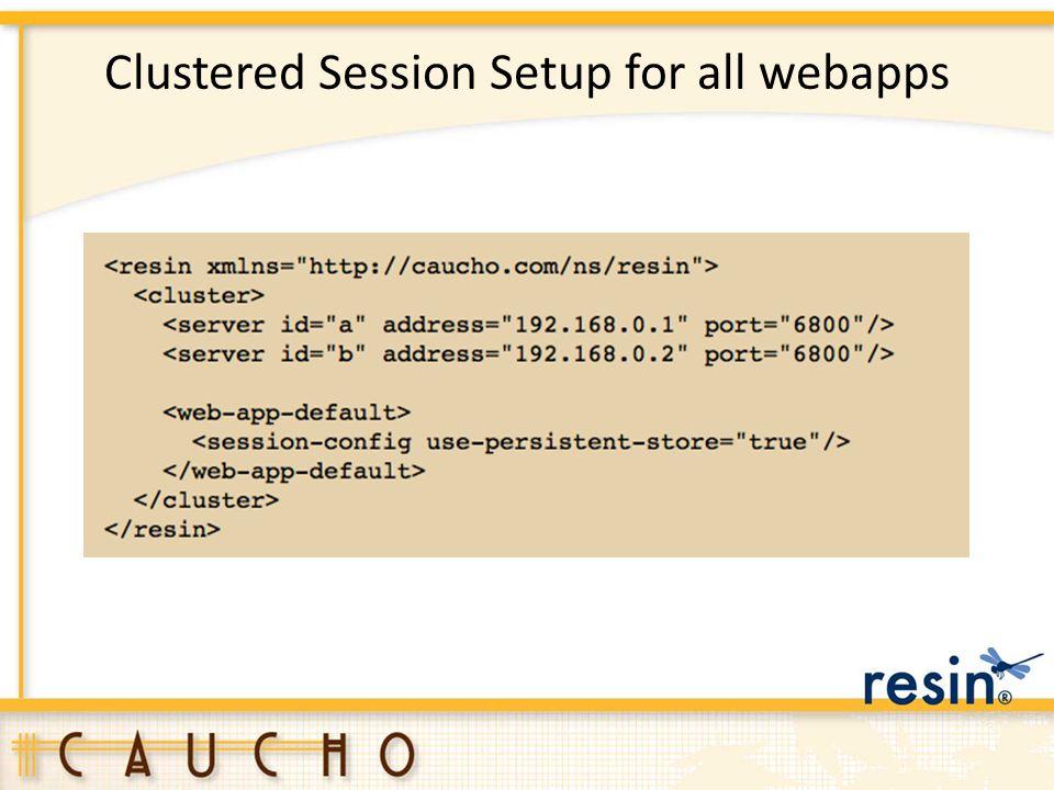 Clustered Session Setup for all webapps