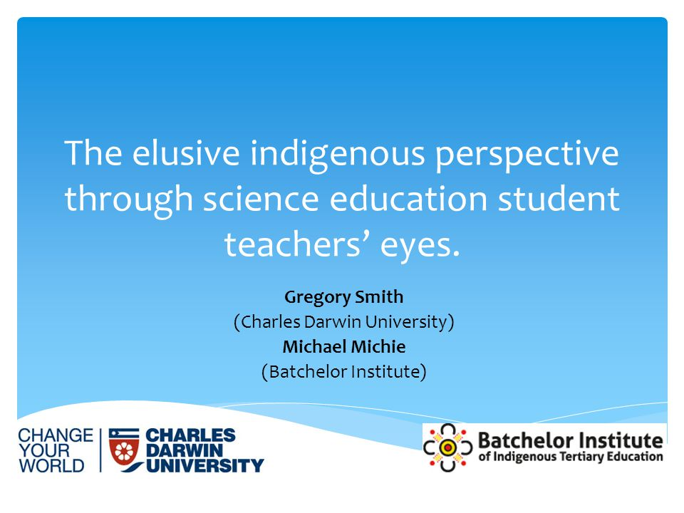 What are pre-service teachers' perceptions of indigenous perspectives? Research Question