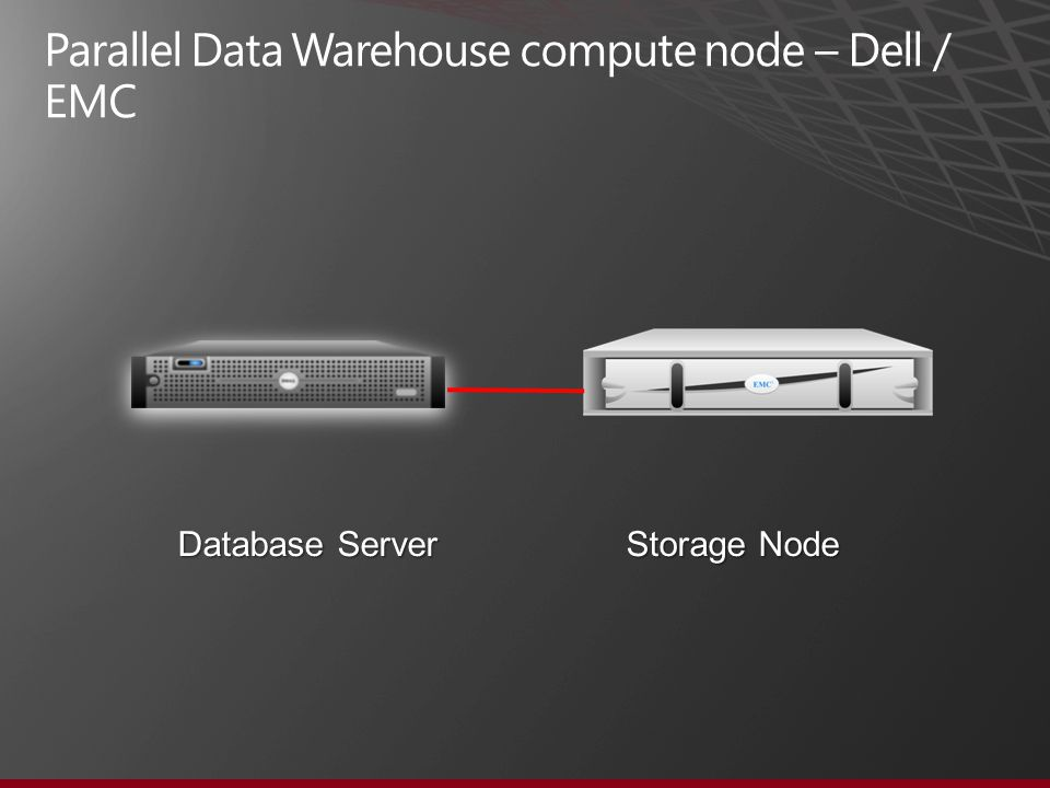Parallel Data Warehouse compute node – Dell / EMC Database Server Storage Node