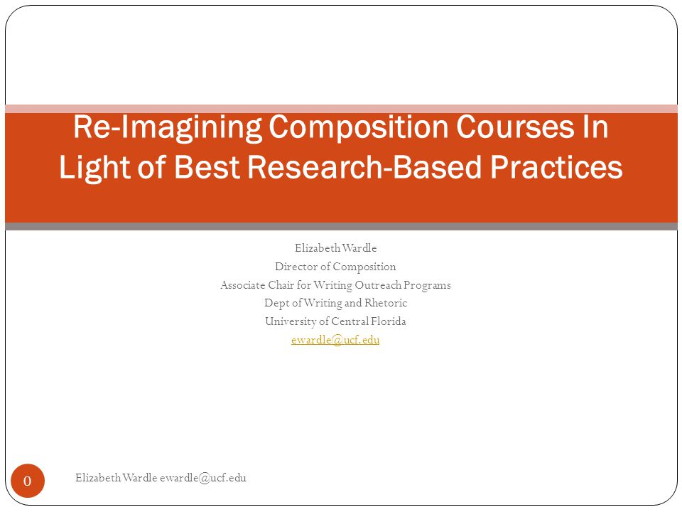 What Should Composition Courses Do—And Why Is That So Hard.