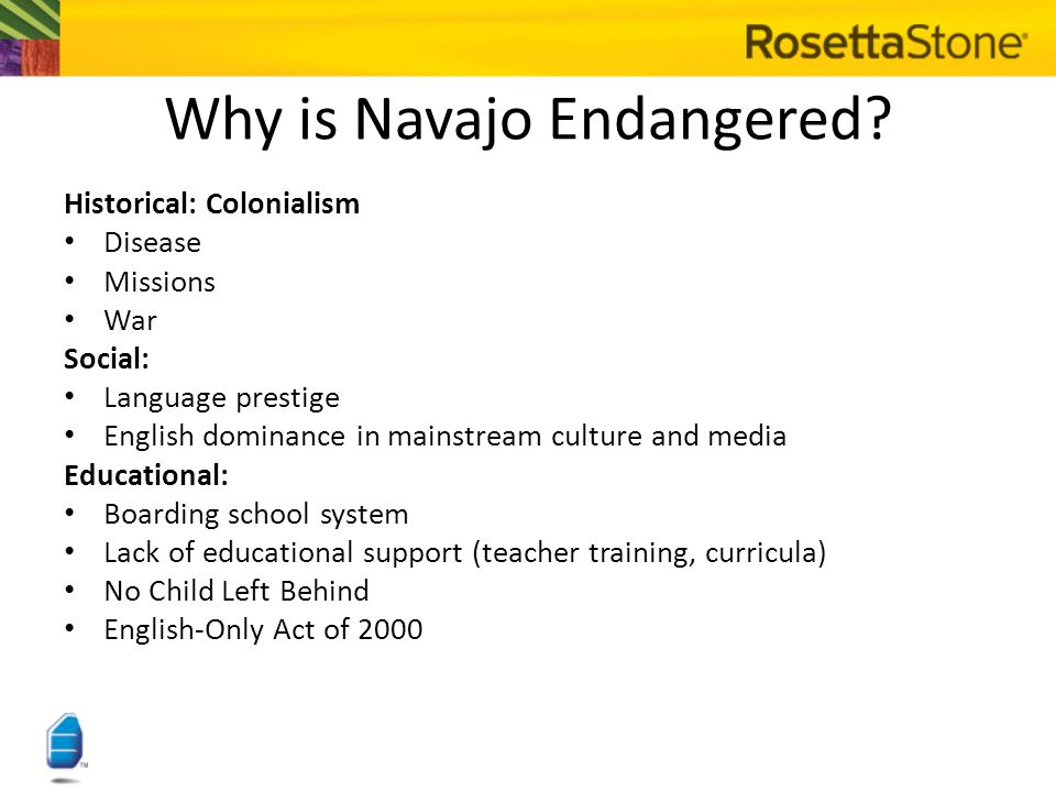 Why is Navajo Endangered.