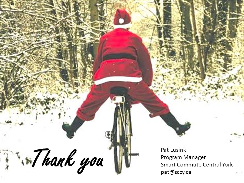 Thank you Pat Lusink Program Manager Smart Commute Central York pat@sccy.ca