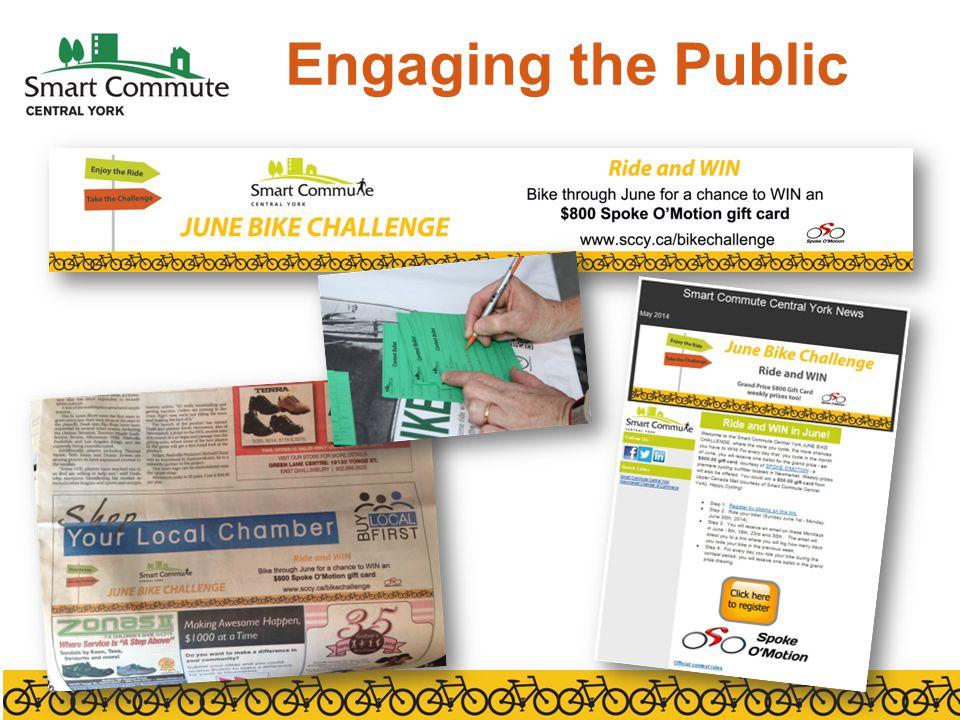 Registration and Tracking Registration survey Weekly surveys www.sccy.ca/bikechallenge