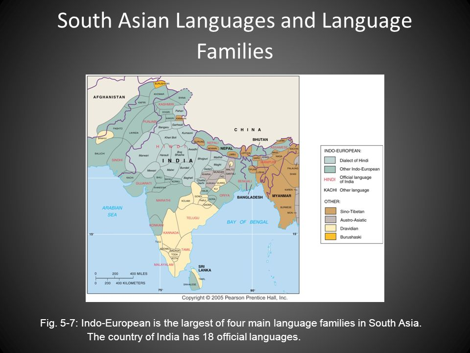 South Asian Languages and Language Families Fig.
