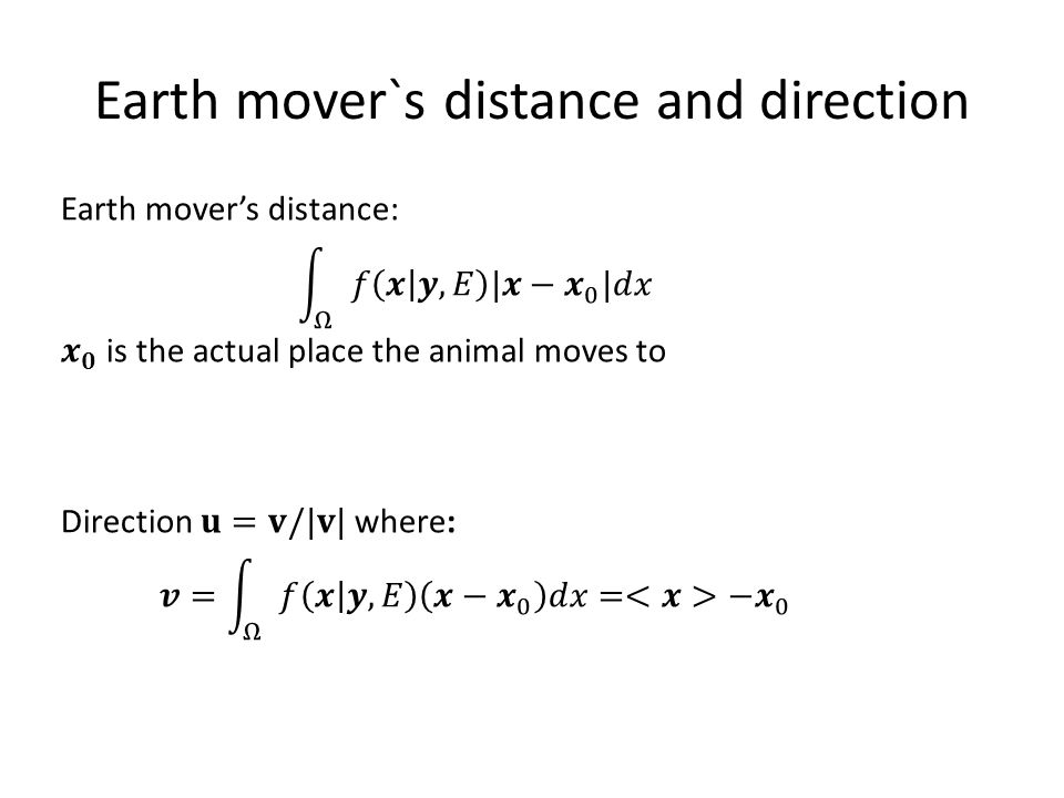 Earth mover`s distance and direction
