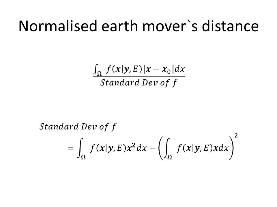 Normalised earth mover`s distance