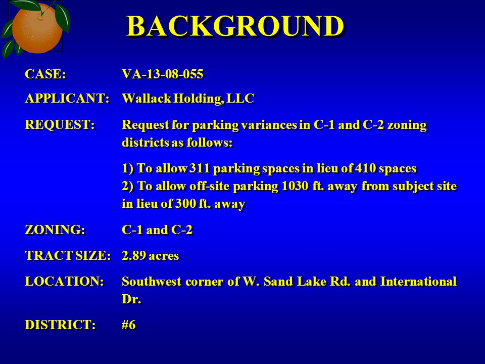 ZONING MAP Satellite parking lot Mangos/Bargain World