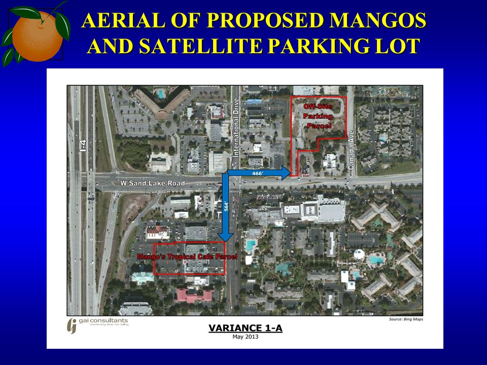 AERIAL OF PROPOSED MANGOS AND SATELLITE PARKING LOT