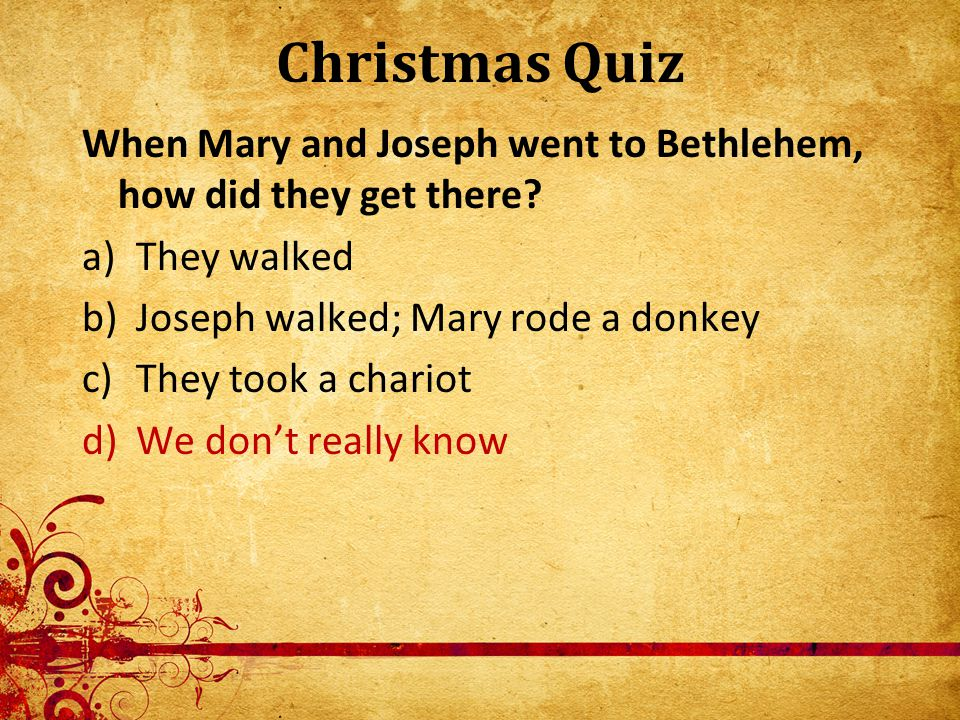 Christmas Quiz How many angels spoke to the shepherds.