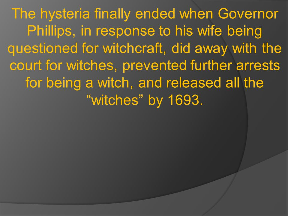 However, he was ignored, and nineteen more people were killed for witchcraft, one crushed by stones.