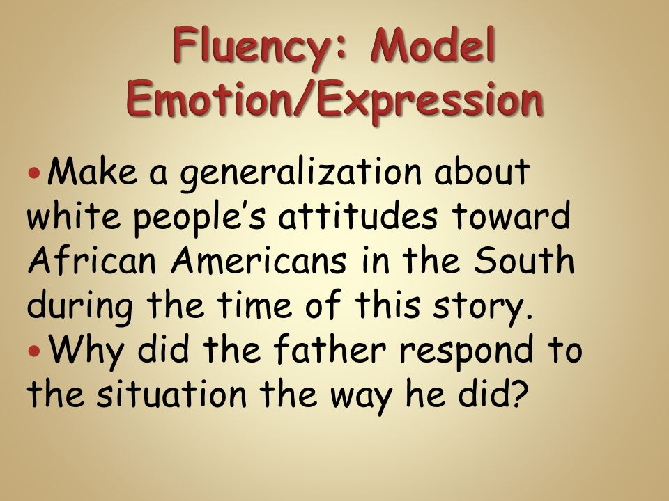 Make a generalization about white people's attitudes toward African Americans in the South during the time of this story.