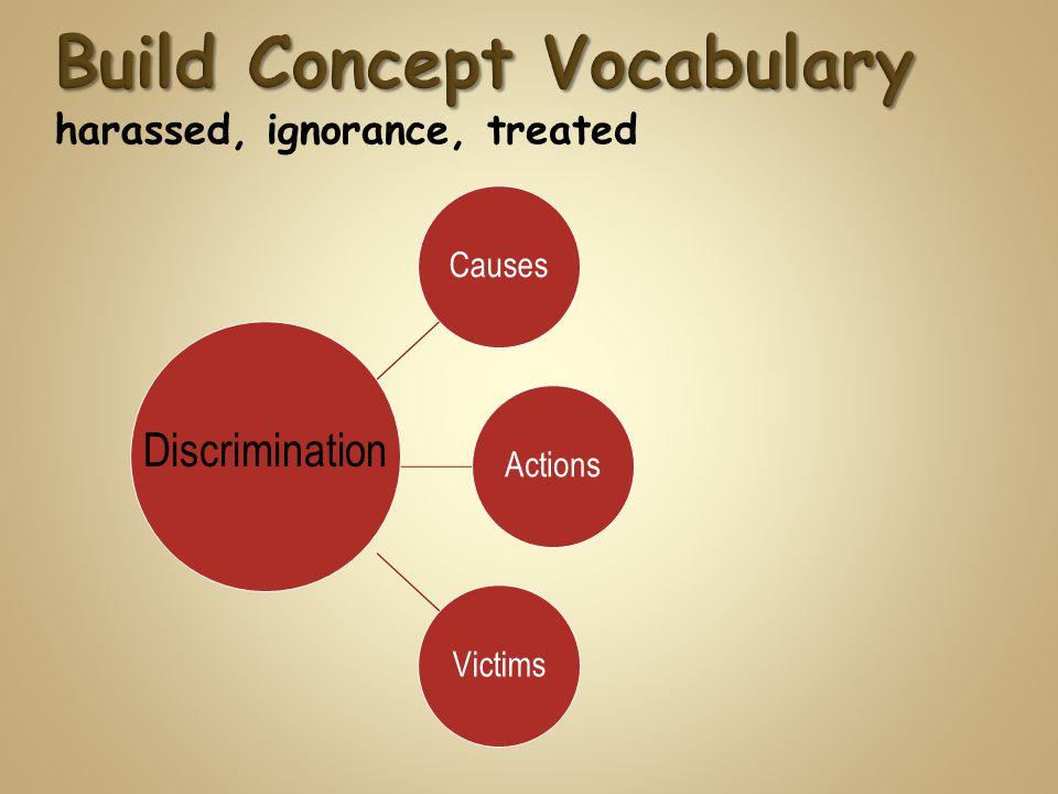 CausesActionsVictims Discrimination