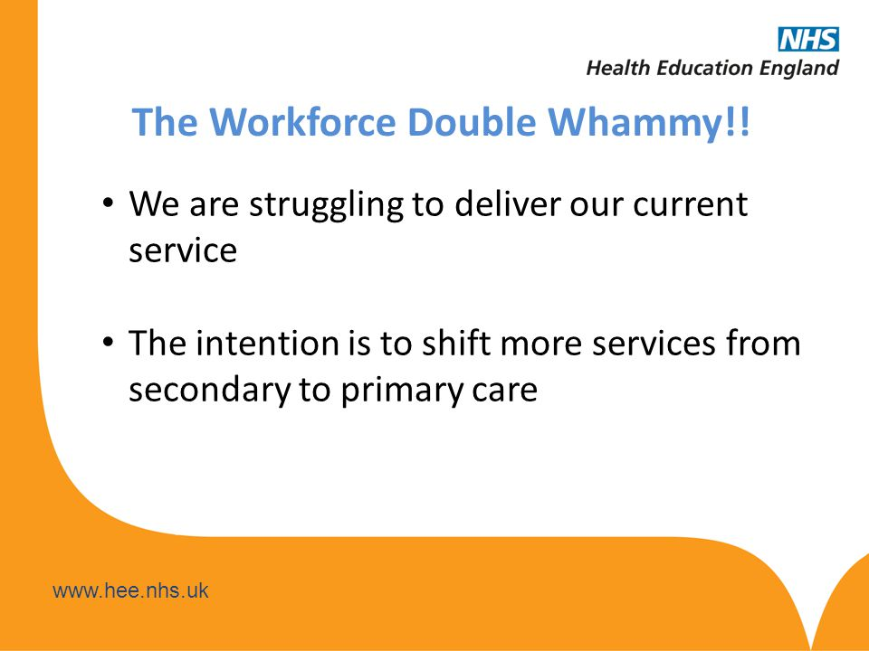 www.hee.nhs.uk Where are we now.